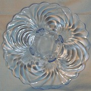 Cambridge Glass Service Plate/Torte Caprice Moonlight Blue