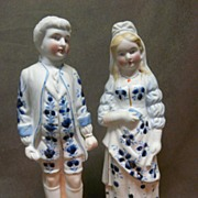 SALE Vintage Bisque Figures -  Pair