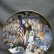 "SALE Gorham ""200 Years With Old Glory"" George Washington Decorator Plate"