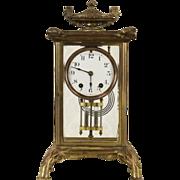 Seth Thomas Bronze 1900 Antique Crystal Regulator Clock