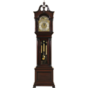 Elliott of London Tall Case 1890's Antique 5 Tube Clock, Sold by Horner NYC