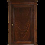 Georgian 1790 Antique English Hanging Cupboard or Corner Cabinet