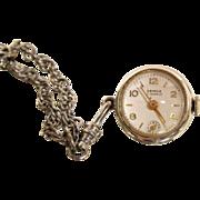Swiss Vintage Semca Pendant Necklace Exposed Escapement Watch