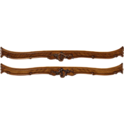 Pair of French carved Bed Rails