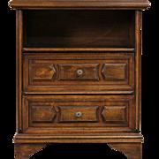 Scandinavian Vintage Fruitwood Nightstand or End Table