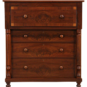 Empire Cherry & Mahogany 1840's Antique Butler Secretary Desk