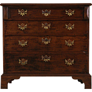 English 1860 Antique Mahogany Chest or Dresser