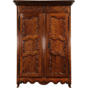 Country French Provincial 1780 Antique Cherry Armoire or Wardrobe Closet