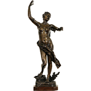 Venus Statue Bronze 1900 Antique French Sculpture, Signed Charpentier