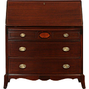 Revell Chicago Signed 1940 Vintage Hepplewhite Secretary Desk, Marquetry