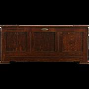 Oak 1900 Antique Blanket Chest, Trunk or Bench
