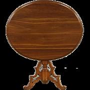 Cherry 1840's Antique Oval Tilt Tip Breakfast, Game or Tea Table