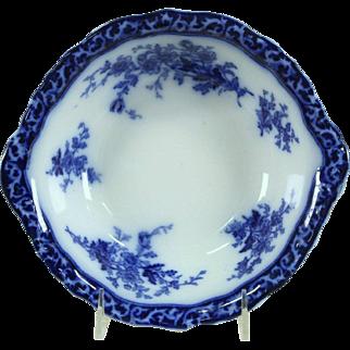 """Flow Blue 1880's Antique Touraine 9 1/4"""" Serving Bowl"""