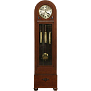 Art Deco 1915 Winterhalter Signed German Grandfather Long Case Westminster Clock
