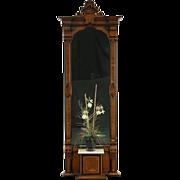 Victorian Eastlake 1870's Antique Hall Pier Mirror, Marble Shelf