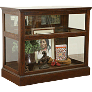 Oak 1900 Antique 4' Display Showcase Humidor Salvage from Cigar Store
