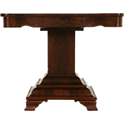 Empire Mahogany 1840 Antique Center, Hall or Game Table
