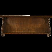 Dutch 1900 Antique Carved Elm Wall Hanging Shelf