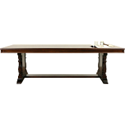 Conference or 8' Dining Table, 1915 Walnut Antique from Chicago Bank