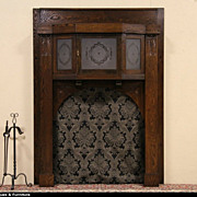 Arts & Crafts Mission Oak 1900 Fireplace Mantel Architectural Salvage