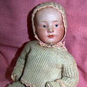 Antique Gebruder Heubach Jointed Pouty Baby Doll circa/1900