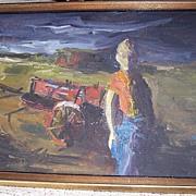 Anton Weiss Original 1966 Painting