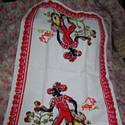 Vintage Black  Americana Tea Towel
