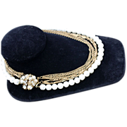 SALE Vintage Miriam Haskell Multi-Strand Necklace