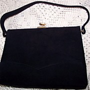 Vintage Pristine Koret Kelly Style Black Suede Purse