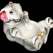 SALE Vintage Ceramic Elephant Nodder Ashtray
