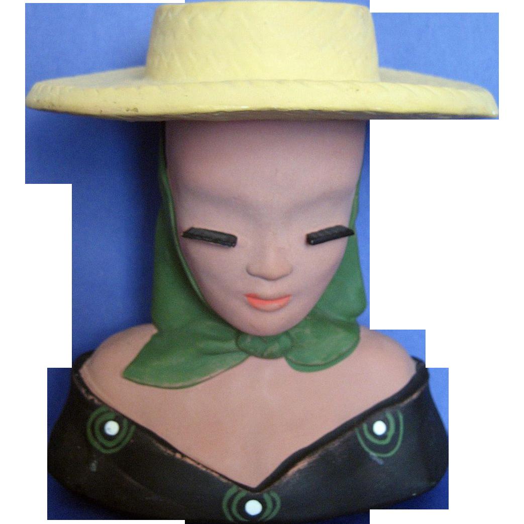 Mexican / Spanish Juanita Lady Head Vase