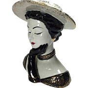 Lefton Vogue Art Deco Style Lady Head Vase