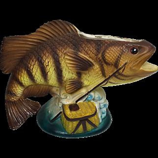 SALE Realistic Vintage Fish Planter