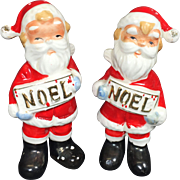 NOEL Santa Claus Salt & Pepper Shakers
