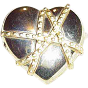 """Estee Lauder's """"Golden Chains Heart"""" Solid Perfume Compact"""