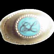 Estee Lauder Representative 14K Gold and Enamel Pin ~ Extremely Rare!