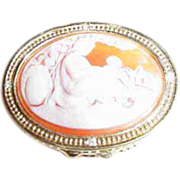 """Estee Lauder """"Mother & Child Cameo"""" Solid Perfume Compact ~ Delightful!"""