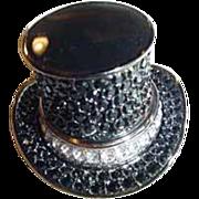 "SALE Estee Lauder ""Top Hat"" Solid Perfume Compact ~ Wonderful ~"