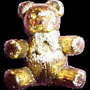 Max Factor Teddy Bear Solid Perfume Compact ~ Rhinestones!