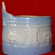 Vintage Farmhouse Stoneware Hanging Salt Crock