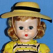 "Alexander-kins SLW doll in Original ""Wendy Loves School Dresses""  Pinafore Costume -"