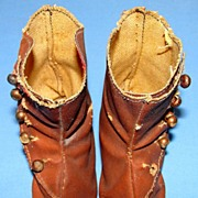 Antique Victorian Fashion Doll Boots/Shoes and socks