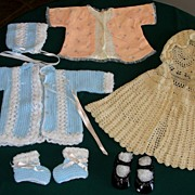 SALE 1960's Baby Doll or Infant clothing lot