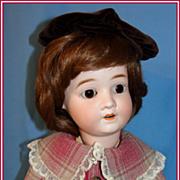"""SALE Sweet 22"""" Schoenau Hoffmeister Bisque Child  Doll"""