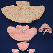 SALE Two Lovely Hand Crocheted Outfits one for an Alexander-Kins