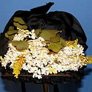 SALE Lovely  Antique Victorian Bonnet suitable for large Bisque Doll