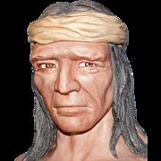 "Vintage ""Apache"" Indian bust by Artist Edward J. Rohn - Incredible Porcelain Sculpture!"