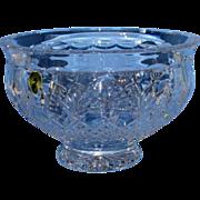 "SALE Beautiful 8"" Waterford Crystal Killarney Bowl W/ Original Box"