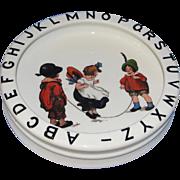 Sweet Antique German Children's ABC Bowl