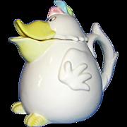 Fitz and Floyd Vintage Duck Or Dodo Bird Ceramic Teapot - Amusing!